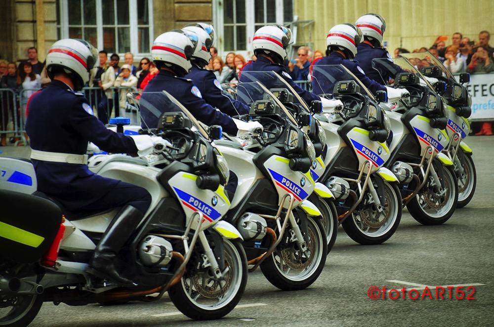 Police Motorcycles in Paris
